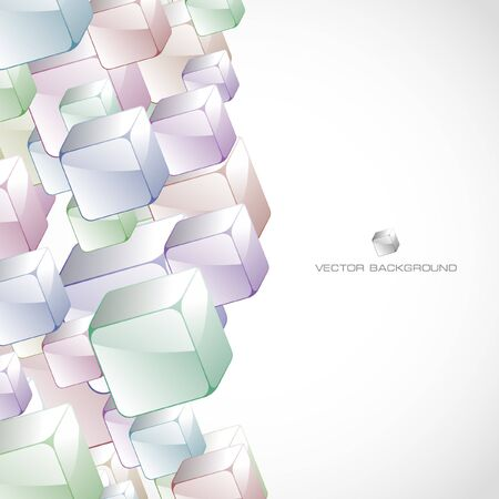 Abstract background with colorful boxes Stock Vector - 7819712