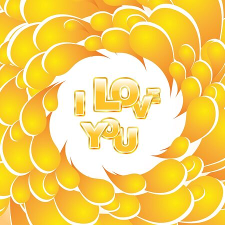 Love message. Orange illustration.    Vector