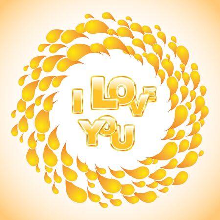 Love message. Vector