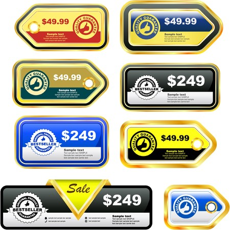 price reduction: Great collection of sale tags.