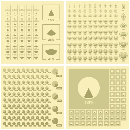 Diagram set.  Great collection. Vector