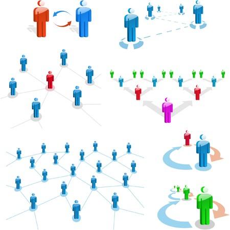 negotiations: Concepto de red. Gran colecci�n.