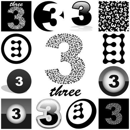 THREE. Great collection. Vector