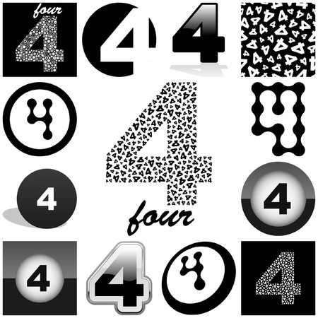 FOUR. Great collection. Vector