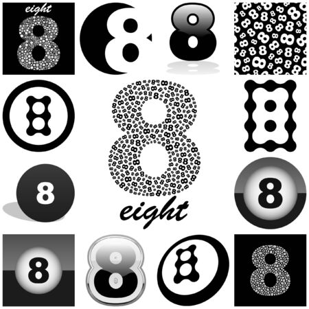 EIGHT. Great collection. Vector