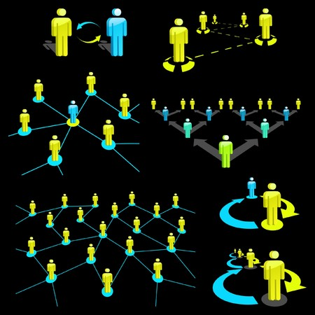 Network concept. Vector