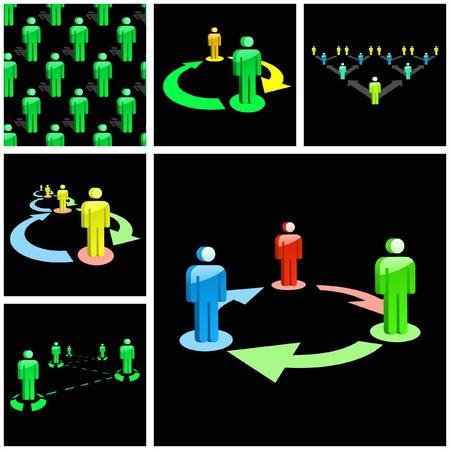 Network concept. Stock Vector - 7852695