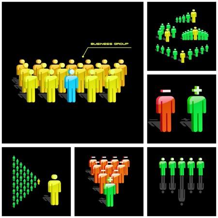 corporate social: Concetto di business team.