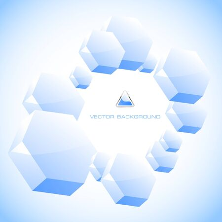 Abstract hexagon background. Stock Photo - 7882043