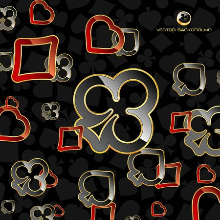 playing card set symbols: Abstract background with card suits. Stock Photo