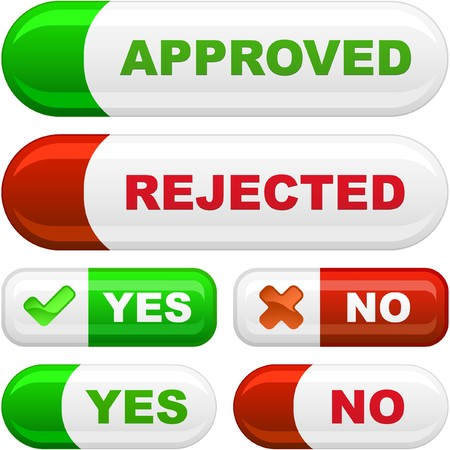 Approved and rejected button set. Stock Photo - 7880834