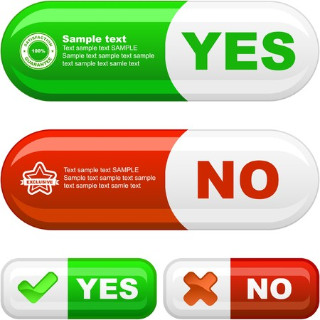 Approved and rejected button set. Stock Photo - 7880861