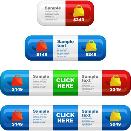 Banner set for sale. Stock Photo - 7880864