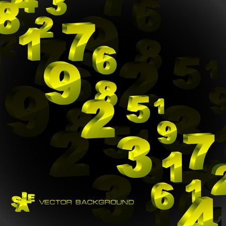 Abstract background with golden numbers.   photo