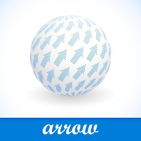Globe with arrow mix. photo