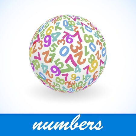 decimal: Globe with number mix.