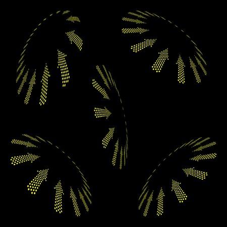 Set of arrows. photo