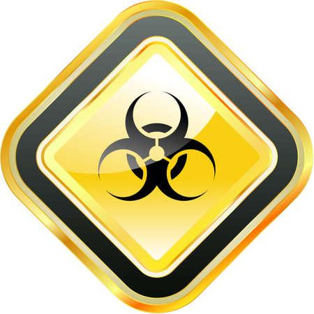Biohazard sign. Stock Photo
