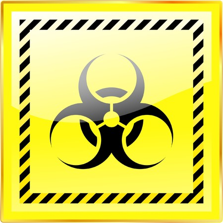 ejaculation: Biohazard sign. Stock Photo