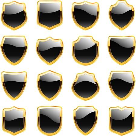 blazonry: Set of heraldic symbols