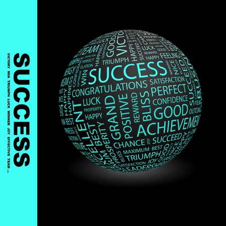 SUCCESS. Globe with different association terms. Stock Photo - 8238014