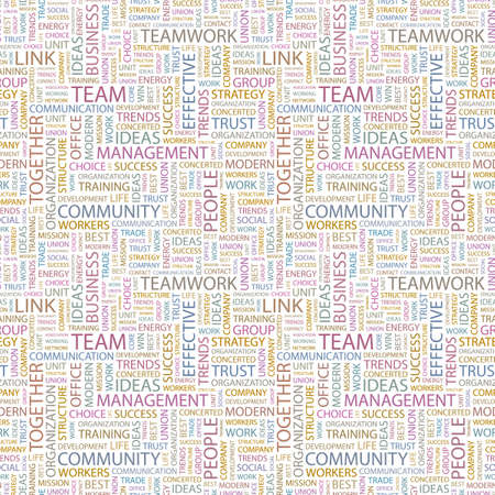 TEAM. Seamless pattern with word cloud.   photo