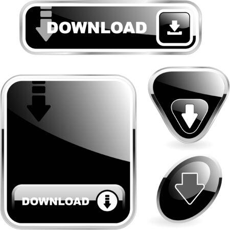 Download button set. photo