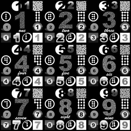 Number sign collection. photo