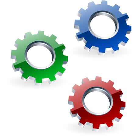 gearshift: Gear icon set.    Stock Photo