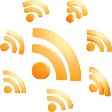 syndicated: RSS icon set.