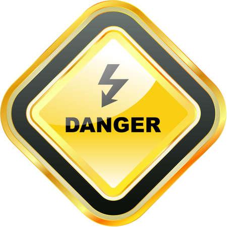 the bacteria signal: Warning sign.
