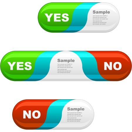 no movement: Approved and rejected buttons. Stock Photo