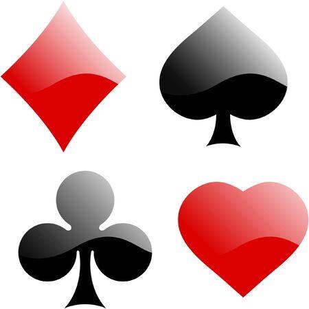 card suit: Card suits. set.   Stock Photo