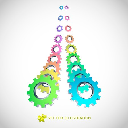industry poster: Gear background. Abstract illustration.