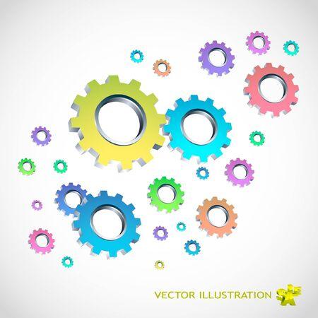 Gear background. Abstract illustration. illustration