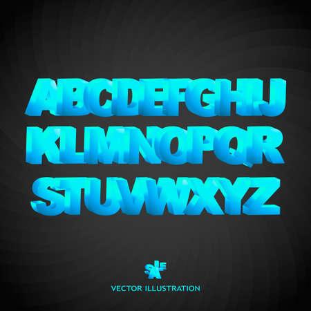 Blue 3d alphabet. Stock Photo - 8291767