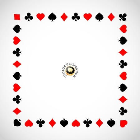 joker playing card: Abstract background with card suits. Stock Photo