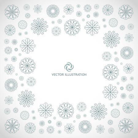 Abstract frame. Floral illustration. Stock Illustration - 8301846