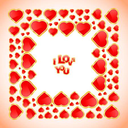I love you. Love message.    photo