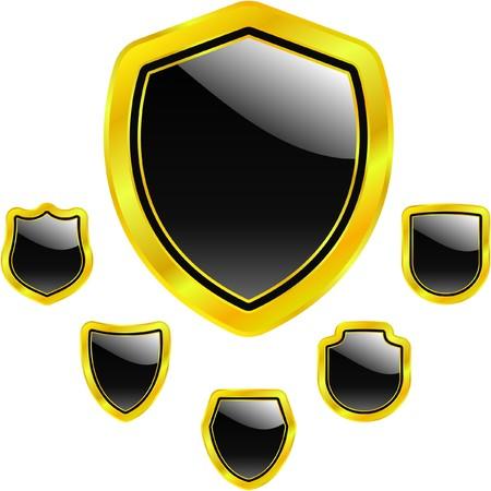 Set of heraldic symbols    photo