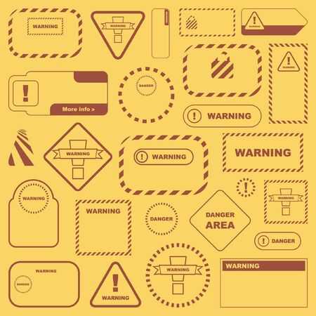 Warning sign collection. Great set. Stock Photo - 8236872