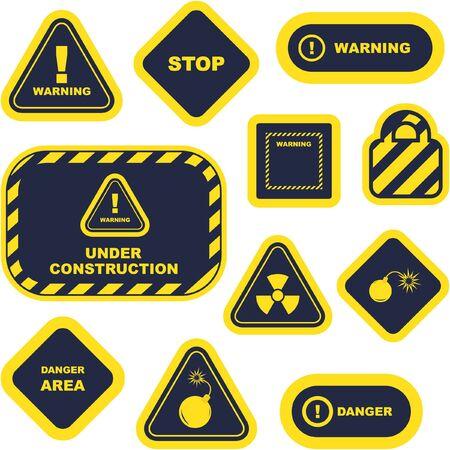 Warning signs. Stock Photo - 8280009