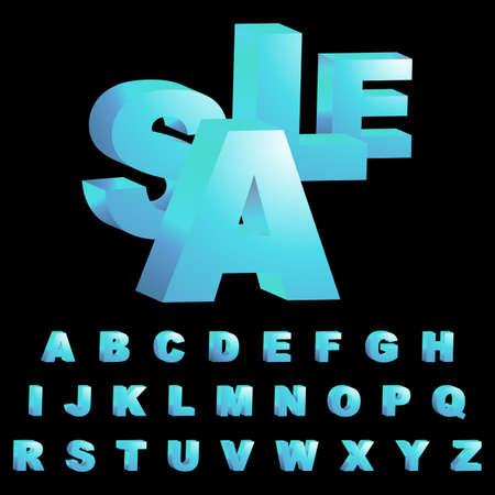 3d alphabet. Stock Photo - 8234110