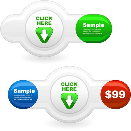 Download button set. Stock Photo - 8238161