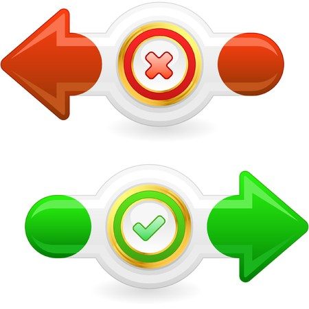 Approved and rejected buttons. Stock Photo - 8238164