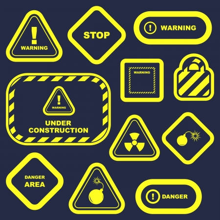 Warning sign collection. photo