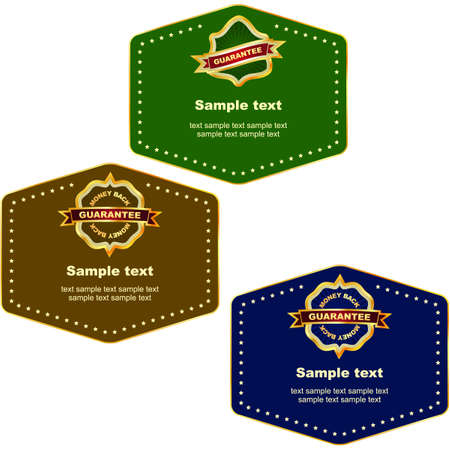 Set of design labels. Stock Photo - 8238203