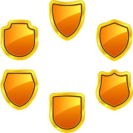 Set of heraldic symbols