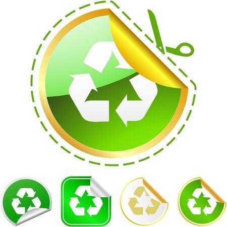 Recycle symbol. Stock Photo - 8238234