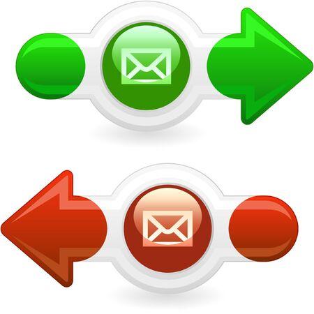 E-mail icon set for web.   Stock Photo - 8238226